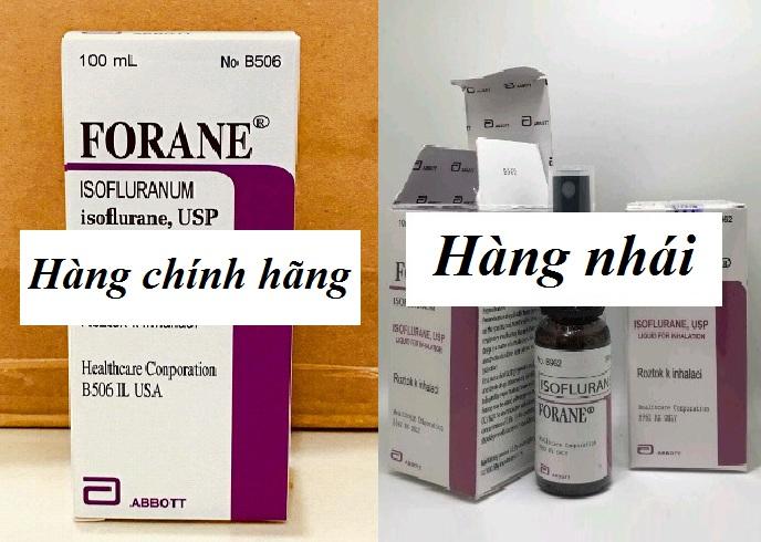 Thuốc mê dạng xịt Forane USA