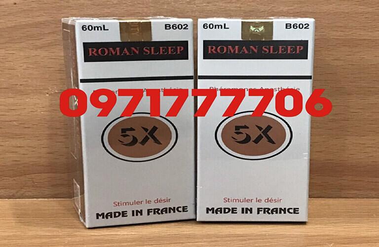 Thuốc kích dục Roman Sleep 5X giúp gây mê, kích thích tình dục hiệu quả tốt